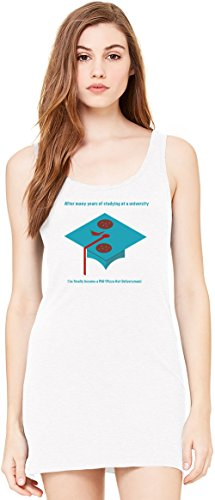 I've finally become a PhD Sleeveless Tunic Tank Dress For Women| 100% Premium Cotton| DTG Printing| Unique & Custom Robes, Skirts, Drapes, Evening Tunics & Clothing By Wicked Wicked