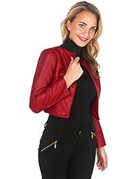 KRISP® Damen Casual Blazer Langarm Weste Elegante Jacke Wetlook Metallic