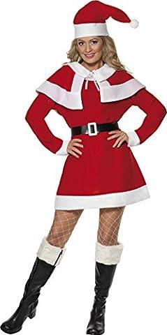 Smiffys - Costume Mere Noel Avec Capeline Taille Xl