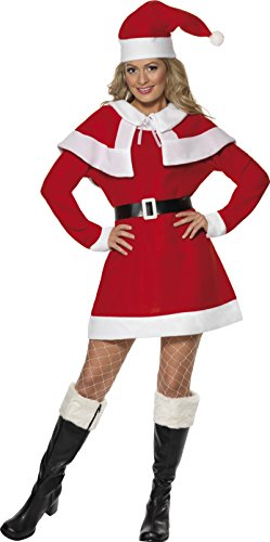 SMIFFYS Miss Santa Fleece Costume, Ragazza