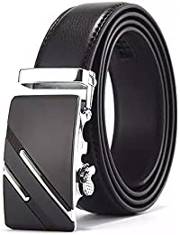 Satyam Kraft PU Leather Adjustable Automatic Belts For Casual And Formal For Men And Boys - Black