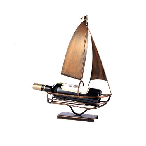 Hxyan Weinregal-Einrichtungs-kreatives Wein-Kabinett-Ausgangsbar-Küchen-Geschenk-Segelboot