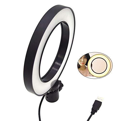 KOBWA LED-Ringlich dimmbar mit Kunststoff 3-Licht-Modus 6,3 Zoll USB Beauty Rejuvenation Weiches Licht für Make-up, Live-Streaming, YouTube-Video-Shooting, Fotografie-Beleuchtung