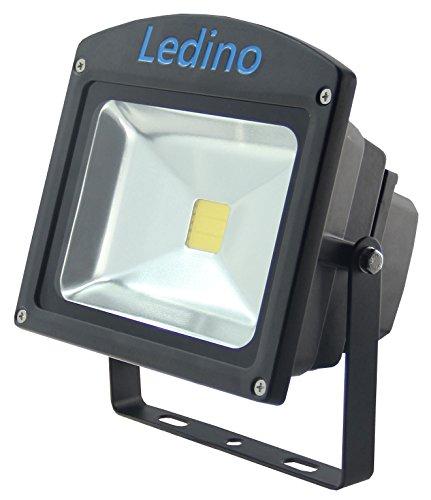 Ledino LED-Flutlichtstrahler in Schwarz mit Epistar LEDs, 20 W, kaltweiß