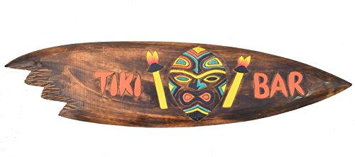 Tiki-Bar-Surf-Junta-100-cm-sur-mar-tabla-de-surf-Hawaii-colgantes