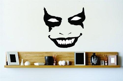 oker Face Maske Vinyl Wall Aufkleber Peel & Stick Aufkleber Home Halloween Party Dekoration Kinder Junge Mädchen Teen Wohnheim Zimmer Kinder-22Farben erhältlich 20x 20 ()
