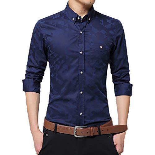 KUKICAT Herren Bluse Sommer Herren Printed Casual Kurzarm Bequeme Tops Shirts -