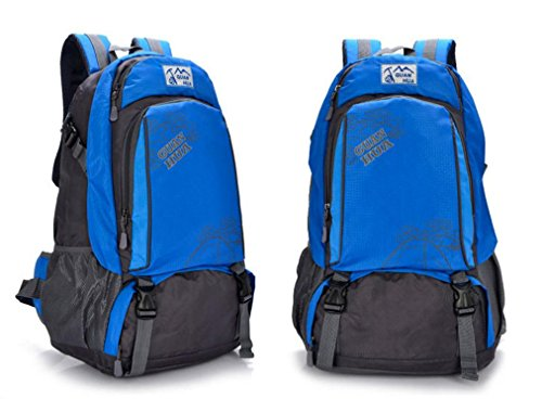ROBAG 45L neue wasserdichte atmungsaktive Outdoor-Klettern Tasche Umhängetaschen für Männer und Frauen, Freizeit Reisetaschen blue