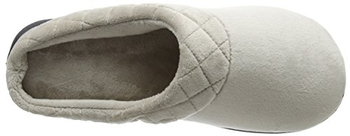 Dearfoams Clog, Chaussons Mules Femme Silver (Pewter)