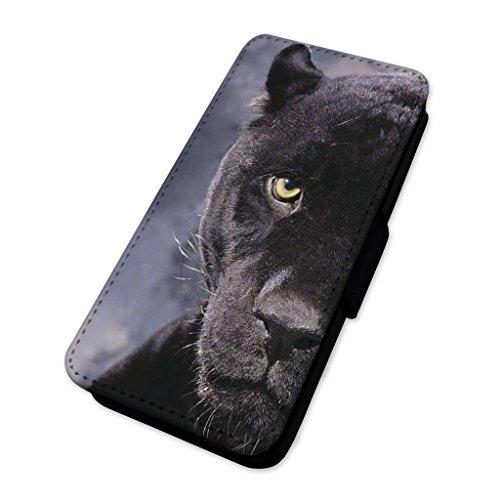 Black Panther–Custodia ad aletta in pelle copertura di carta Apple Iphone 8