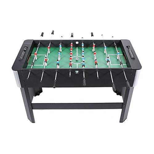 Pinty 1.2M/48 Foosball Table Soccer Football Table MDF Construction for Family Use Game Room,Black