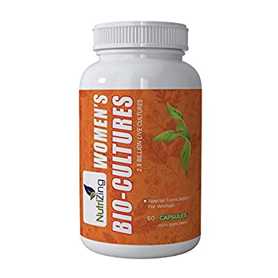 NutriZing's Probiotic Supplement For Women ~ Specially Formulated For Female Health ~ Works Best For Thrush, Yeast Infections, Digestive Health, IBS ~ 2.5 billion CFUs per capsule from NutriZing