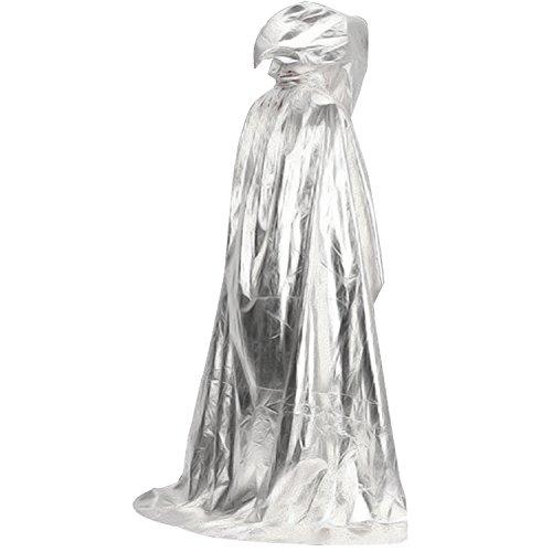 Gosear Damen Herren Unisex Umhang Kostüm Cape mit Kapuze für Halloween (Einzigartige Erwachsenen Kostüme Halloween)