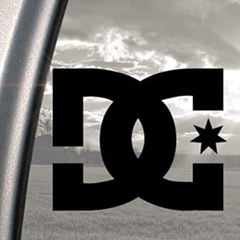 DC Shoe Co. Black Decal Surf Skate Skateboard Car Sticker