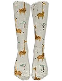 Long Nature Style Giraffes Socks Womens Winter Vintage Cotton Wool Knit Long Crew Socks