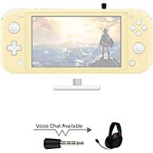 AKNES Ruta de Aire Pro Adaptador Bluetooth para Nintendo Switch/Switch Lite ps4 pc, Bluetooth Wireless Audio transmisor de la Ayuda airpods - Blanco/Rojo