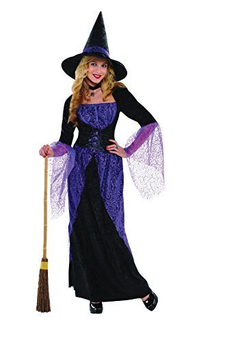 S Ladies Womens Pretty Potion Witch Costume for Halloween Fancy Dress Outfit by (Pretty Kostüm Outfit Woman)