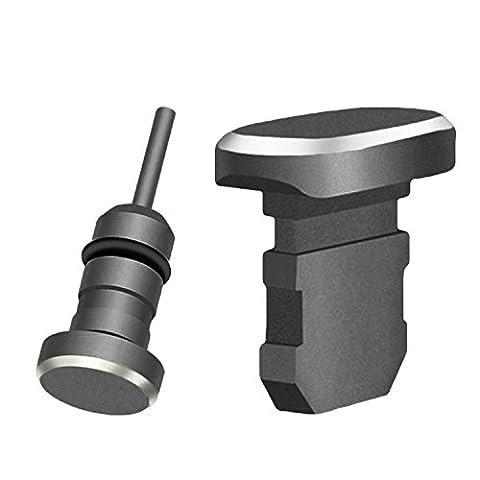 Metal 3.5mm Jack pour écouteurs Bouchon anti-poussière Bouchon anti-poussière Connecteurs de poussière de port de charge Set pour iPhone 6 6s Plus 5s SE iPad Mini