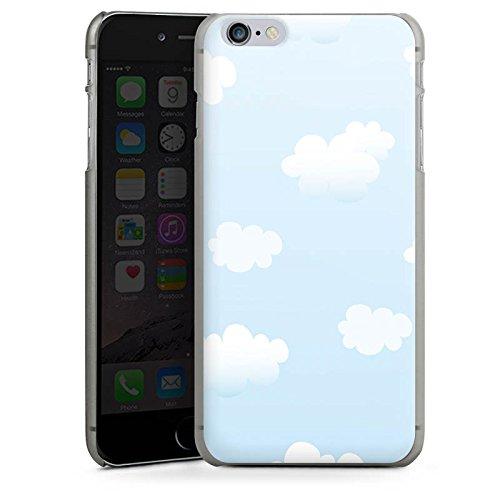 Apple iPhone X Silikon Hülle Case Schutzhülle Wolken Himmel Wolkenmuster Hard Case anthrazit-klar