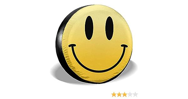 Hiram Cotton Spare Tire Cover Reserveradabdeckung Aus Polyester Eine Welt Des Lächelns Wasserdichte Staubdichte Universal Reserveradabdeckung Für Jeeps Suvs Und Viele Fahrzeuge Auto
