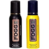 Fogg Fantastic Range Absolute Fragrance Body Spray, 120ml and Fogg Dynamic Fragrance Body Spray, 120ml
