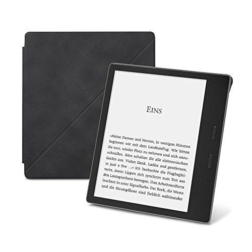 Amazon-Schützhülle aus Premiumleder mit Standfunktion für Kindle Oasis (9. Generation - 2017 Modell), Schwarz