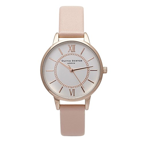 olivia-burton-womens-30mm-pink-leather-band-steel-case-quartz-silver-tone-dial-analog-watch-ob15wd28