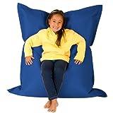 Hi-BagZ KIDS Bean Bag 4-Way Lounger - BLUE Bean Bags Outdoor Floor Cushion - 100% Water resistant Childrens Bean Bags