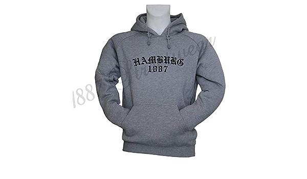 1887 Streetwear Hamburg Volkspark Kapuzensweater Hoody Hoodie Old Hh Einsachtachtsieben Grau Bekleidung