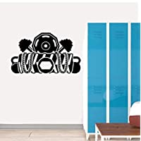 Sports Fitness Dumbbell Wall Stickers PVC Sitting Room The Bedroom 47CM*61.5CM