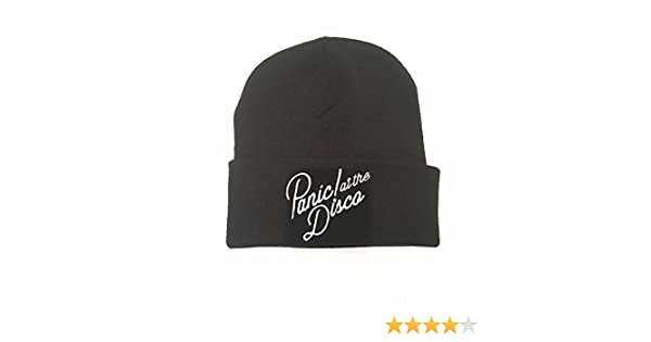 275b148594fa5 Official Panic At The Disco Logo Black Beanie One Size  Amazon.co.uk   Clothing