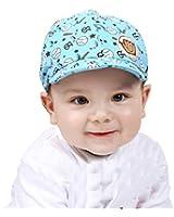 Lacaca Baby Boy Girl Kid Toddler Infant Hat Peaked Baseball Beret Cap (Blue)
