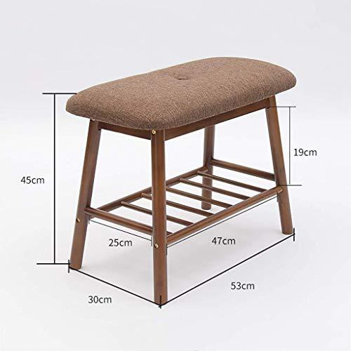 Schuhregal Wirtschaft Einfach Zu Hause Multi-Funktion Luft Sparende Schuh-Rack Komfortable Schuhbank Bamboo Storage Rack Wohnzimmer Schlafzimmer,Brown (Brown-leder-bücherregal)