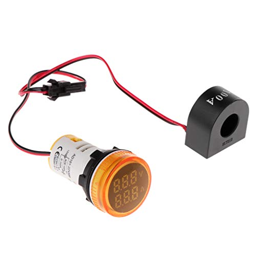 Tajie Digital Voltmeter Amperemeter 22mm Rund AC 50-500V 0-100A Spannung Volt Amp Monitor