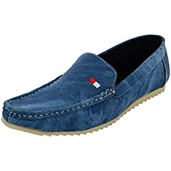 Leatherkraft Men's Blue Denim Loafers-10 (LKLFDNMBL_10)