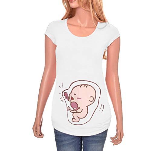 ShaDiao Kurzarm Mutterschaft Tee Shirt Kleider Süßes Baby O-Ausschnitt T-Shirt Schwangere Tops -
