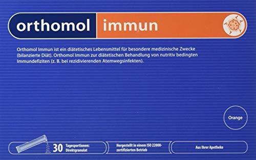 Orthomol immun 30er Direktgranulat Orange - Vitamine & Spurenelemente Komplex - Immunsystem Unterstützung