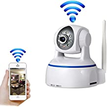 UBest-Cam HD 1080P Wireless Surveillance Security WiFi IP Dome Camera Plug/Play, Pan/Tilt with Two-Way Audio and Night Vision (White)