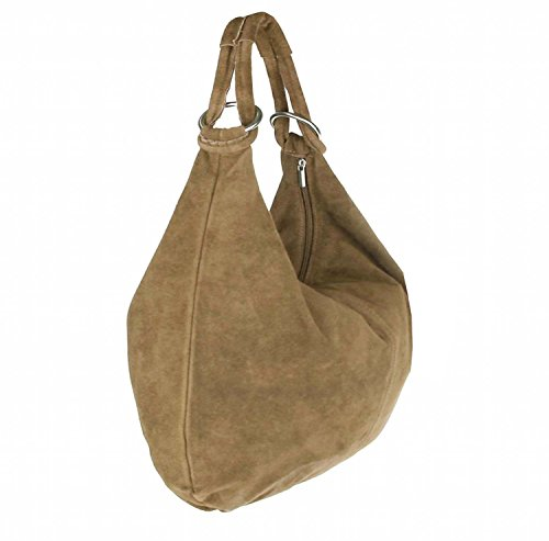 OBC Only-Beautiful-Couture, Borsa tote donna beige talpa 41x34x12 cm (BxHxT)