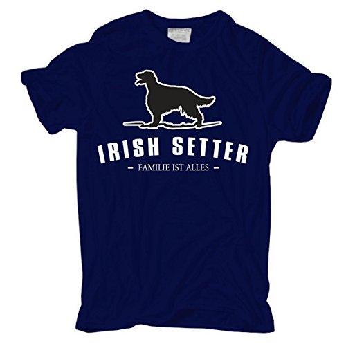 Spaß kostet Männer und Herren T-Shirt Irish Setter - Familie ist Alles Größe S - 8XL Dunkelblau