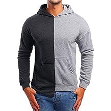 Yvelands Abrigos y Chaquetas de Abrigo para Hombres, Mens Activewear Sudadera con Capucha y Paneles