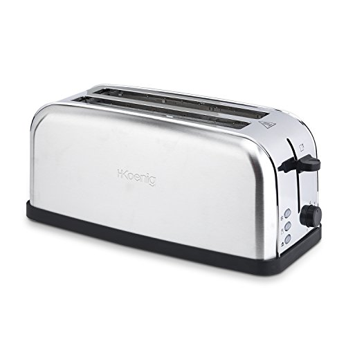 H.Koenig TOS28 Grille Pain Toaster Spécial Baguette 2 Tranches...