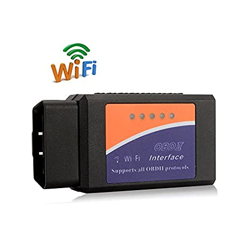 Pumpkin OBDII OBD2 ELM327 Interface WiFi Wireless Car Auto Diagnostic Scanner Scan Tool Adapter Reader for Apple iPhone iPod Touch Android Devices iOS PC (wifi