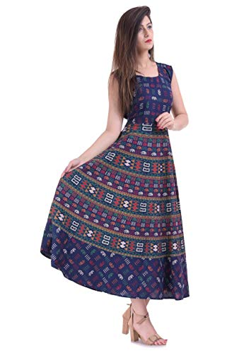 RAJASTHANI COLLECTIONS Women\'s Cotton Dress(Multicolor_Xl)