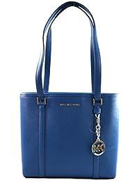 Michael Kors Sady Saffiano Leather Top Zip Tote Shoulder Bag Purse Handbag
