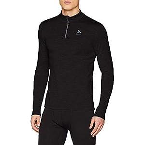 Odlo Herren Bl Top Turtle Neck L/S Half Zip Natural 100% Merino Shirt