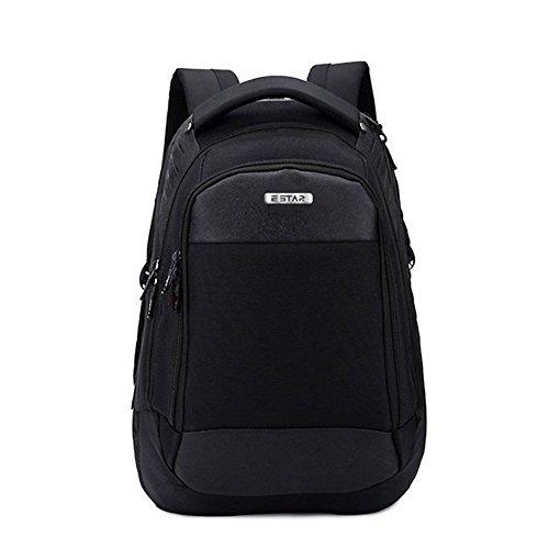 Laptop Rucksack für 15,6 Zoll NewMum Schule Rucksack Unisex Business Rucksäcke Wasserdichter und Verschleißfest für Geschäft / Reisen / Schule (Schwarz)
