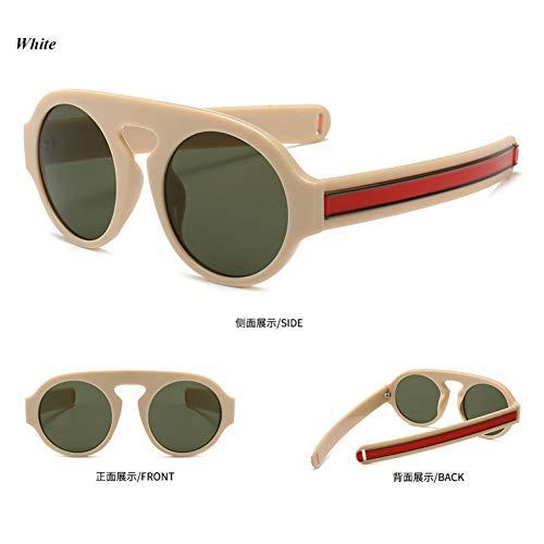 YLNJYJ Round Sunglasses Women Luxury Stripe Sun Glasses Men Vintage Fashion Lady Eyeglasses Shades Brand Design Design Oculos
