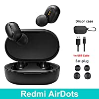 ‏‪Xiaomi Redmi Airdots Black Bluetooth Earphones Youth Mi True Wireless Headphones Bluetooth 5.0 TWS Air Dots‬‏