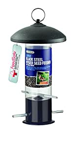 Gardman Large Steel Nyger Seed Feeder - Black